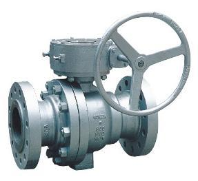 Flanged End Trunnion Casting Ball Valve W63 2pc