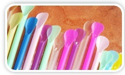 Flexible Color Changing Spoon Shaped Straws