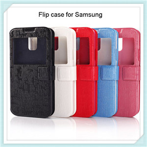 Flip Leather Case For Samsung Galaxy S5 I9600