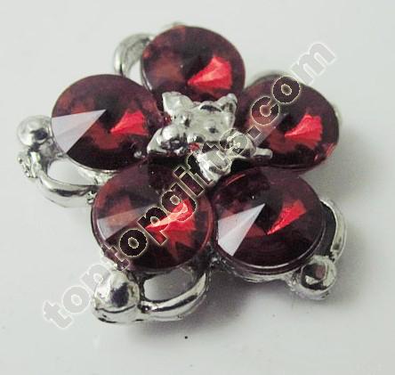 Flower Rhinestone Button Garment Accessories