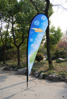 Flying Banner Teardrop Flag