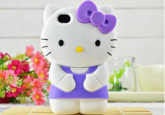 For Iphone 4 4s Silicone Case Mobile Phone Hellokitty