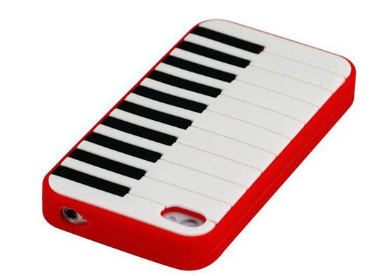 For Iphone 4 Silicone Mobile Phone Case Of Piano Scpiano