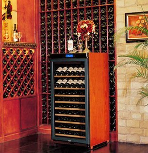 Fridge And Freezer W230a No Frost Wood Wine Bottles Cooler Cabinet With Lcd
