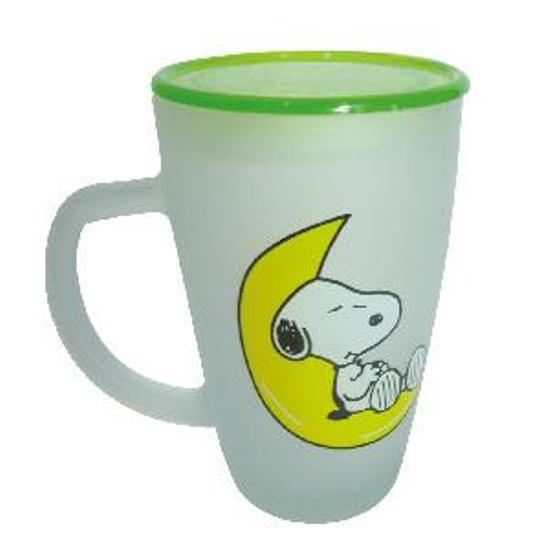 Frost Glass Cup With Cartoon Printing
