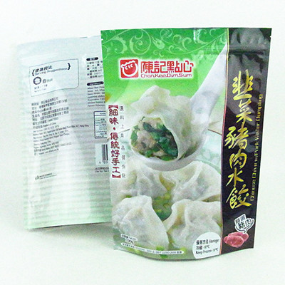 Frozen Dumplings Packing Reusable Stand Up Pouch
