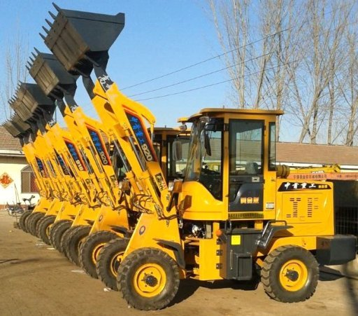 Full Hydraulic Control Wheel Loader Coupler With Snow Blade Rear Camera