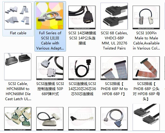 Full Series Of Scsi I Ii Iii Cable With Various Adapters