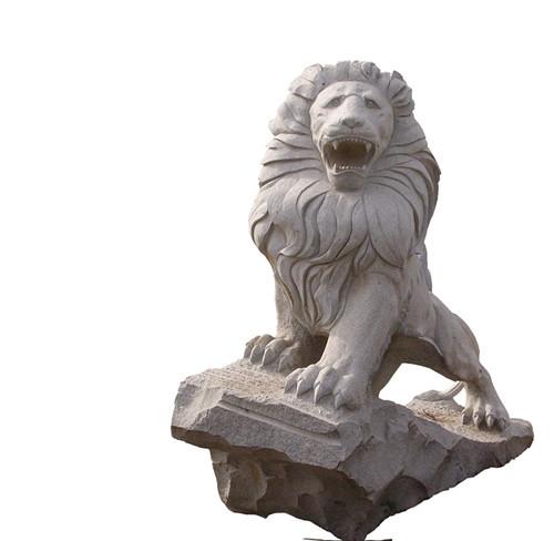 Garden Stone Lion Statue