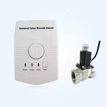 Gas Monitors Wireless Co Leak Sensor Carbon Monoxide Detector With Solenoid