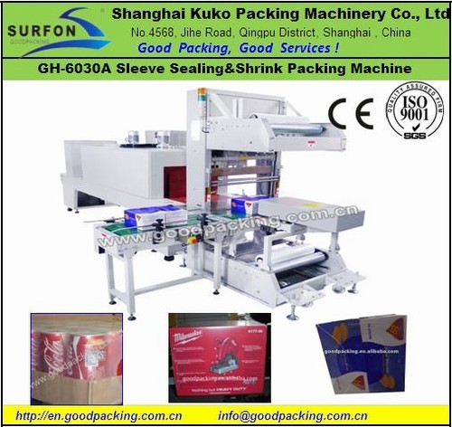 Gh 6030a Sleeve Seal And Shrink Film Wrapping Machine