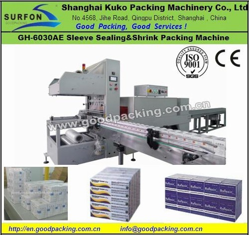 Gh 6030ae Fully Automatic Sleeve Shrink Packaging Machine