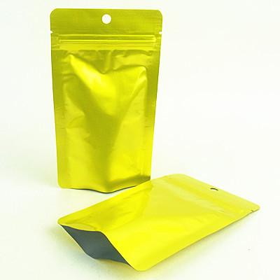 Gold Color Printing Aluminum Foil Flat Food Bag