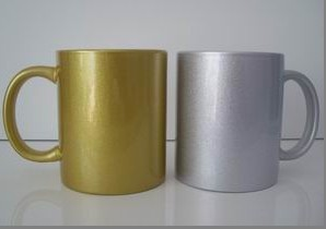 Golden Silvery Coated Mug