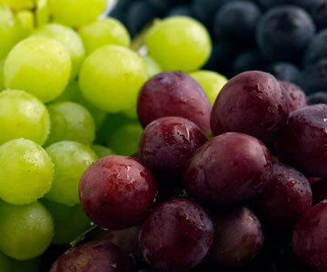 Grapes Black Red White