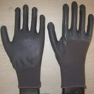 Gray Nitrile Coated Working Gloves Ng1501 12