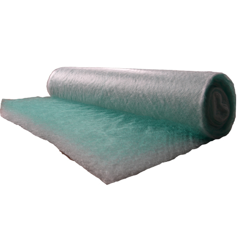 Green And White Spray Booth Fiberglass Paint Stop Filter Media Floor