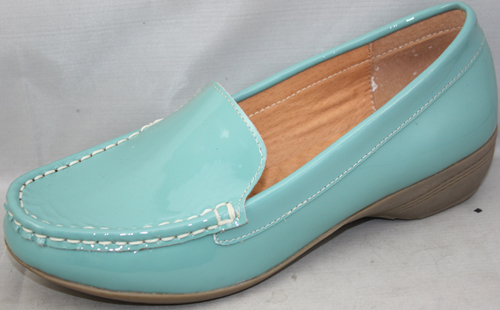 Green Color Lady Leather Casual Shoesxh305 2