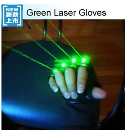 Green Laser Gloves With 4pcs 532nm 80mw Stage For Dj Club Party Show
