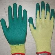 Green Latex Coated Working Gloves Lg1506 7