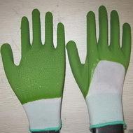 Green Latex Coated Working Gloves Lg1507 16