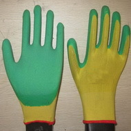 Green Latex Coated Working Gloves Lg1507 6