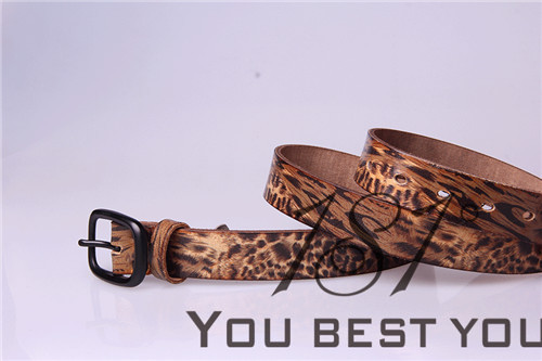 Guangzhou 181 Ladies Genuine Leather Belt Floral Print