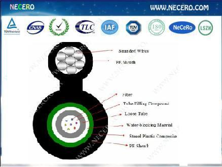 Gyxtc8s Aerial Figure 8 Optical Fiber Cable