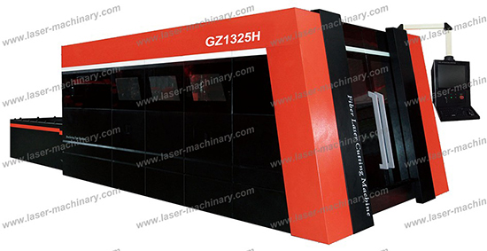 Gz1325h Fiber Laser Cutting Machine With Housing And Exchange Table1