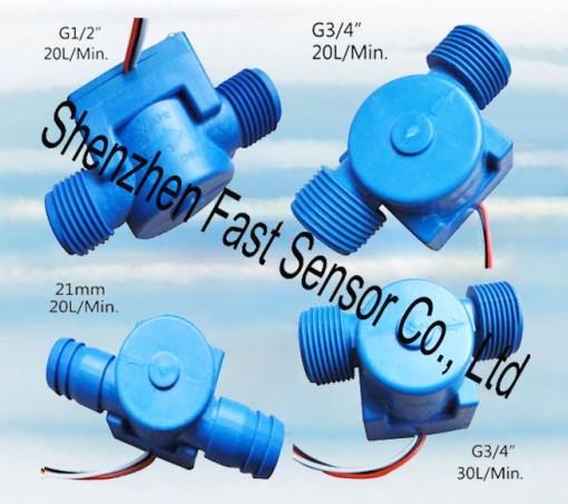 Hall Effected Pulse Flow Meter Sensor
