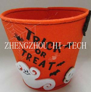 Halloween Holiday Gift Orange Color Felt Basket