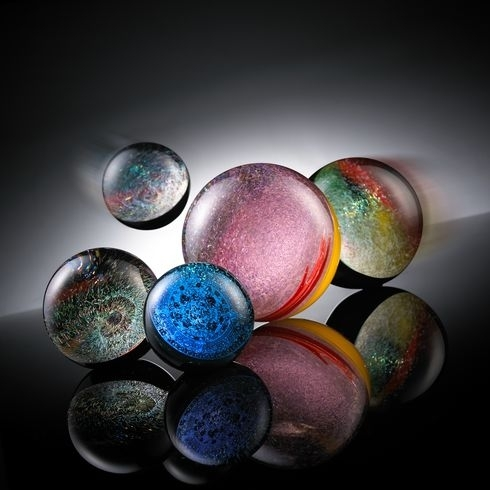 Hand Blown Glass Crafts Dichroic Marbles