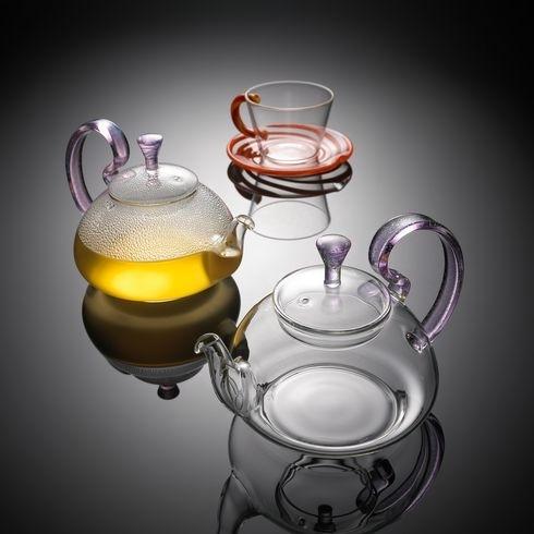 Hand Blown Glass Crafts Herbal Tea Set