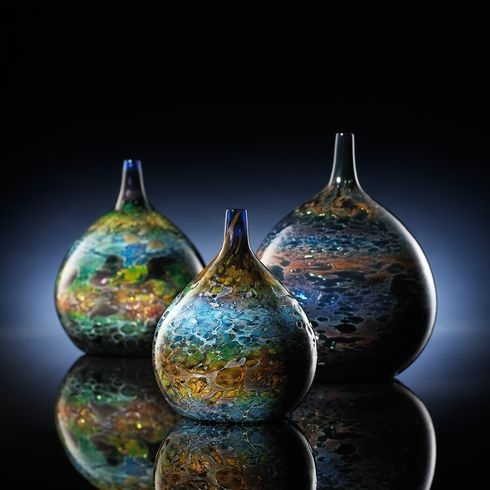 Hand Blown Glass Crafts Rainbow Ball