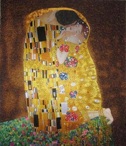 Hand Embroidery Art Painting The Kiss