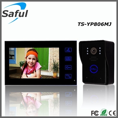 Handfree 7 Color Tft Lcd Electric Lock Control Apartment Wired Video Door P