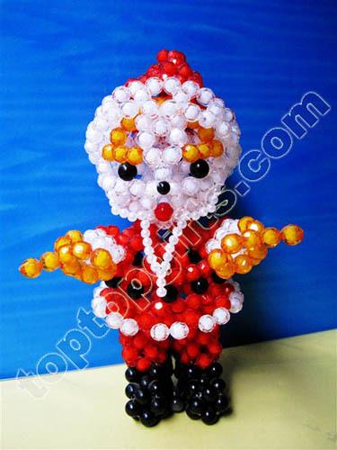 Handmade Acrylic Beaded Christams Santa Claus Figurine