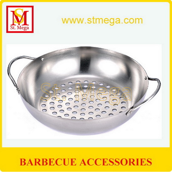 Handy Stainless Steel Bbq Grill Wok