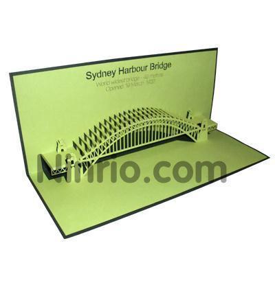 Harbour Bridge Pop Up Greeting Card Code Bd019