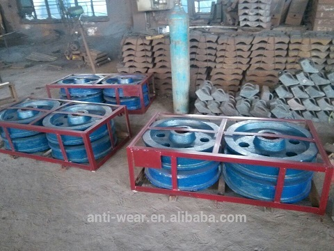 Hardness More Than Hrc42 Crmo4 Stacker Travelling Wheel For Limestone