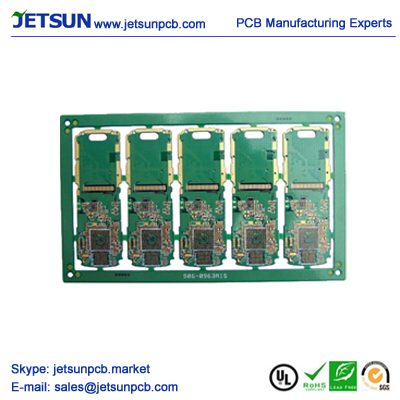 Hdi Pcb With Buried Blind Laser Via For Mobile Phone