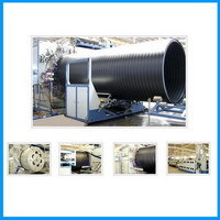 Hdpe Large Caliber Hollowness Wall Winding Pipe Production Line Extrusion P