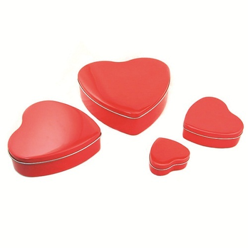 Heart Chocolate Tin Box For Valentine