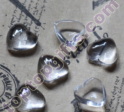 Heart Clear Crystal Cabochons Glass Car Decoration
