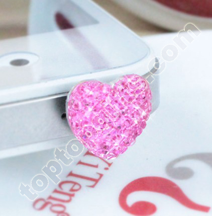 Heart Resin Iphone 4 Dust Plug Phone Accessories