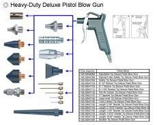 Heavy Duty Deluxe Pistol Blow Gun