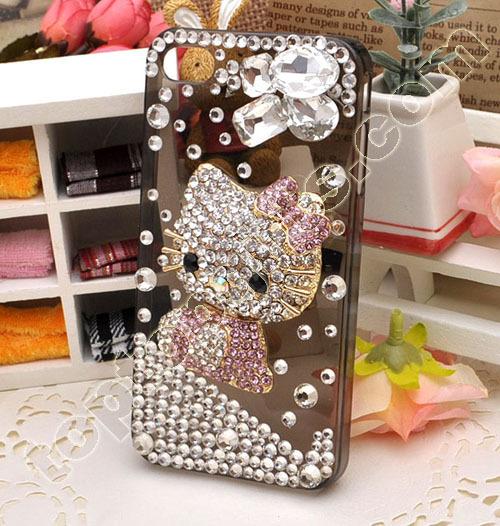 Hello Kitty Rhinestone Iphone4 Shell Hard Case Cover