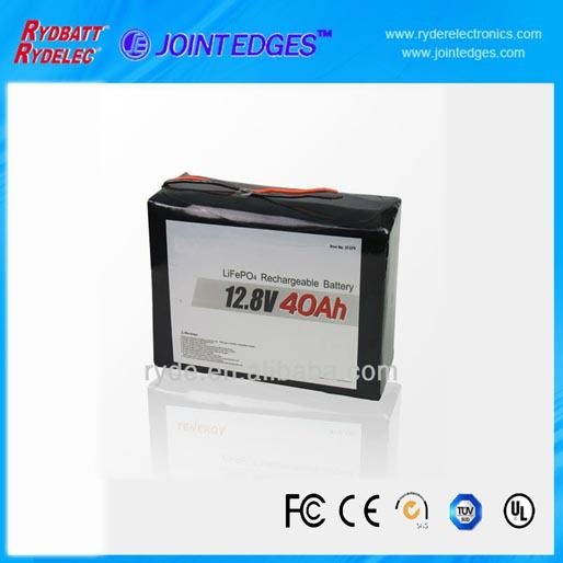 High Capacity Lifepo4 12 8v 40ah Rechargeable Battery Pack