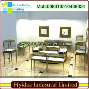 High End Jewelry Showcase Mdf Made Jewlery Display Furniture