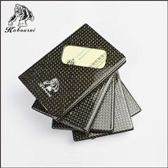 High Fashion 3k Twill Matte Carbon Fiber Business Card Holder For Factory D